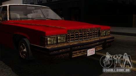 GTA 5 Albany Emperor Worn IVF para GTA San Andreas vista direita