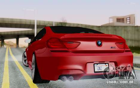 BMW M6 2013 v1.0 para GTA San Andreas esquerda vista