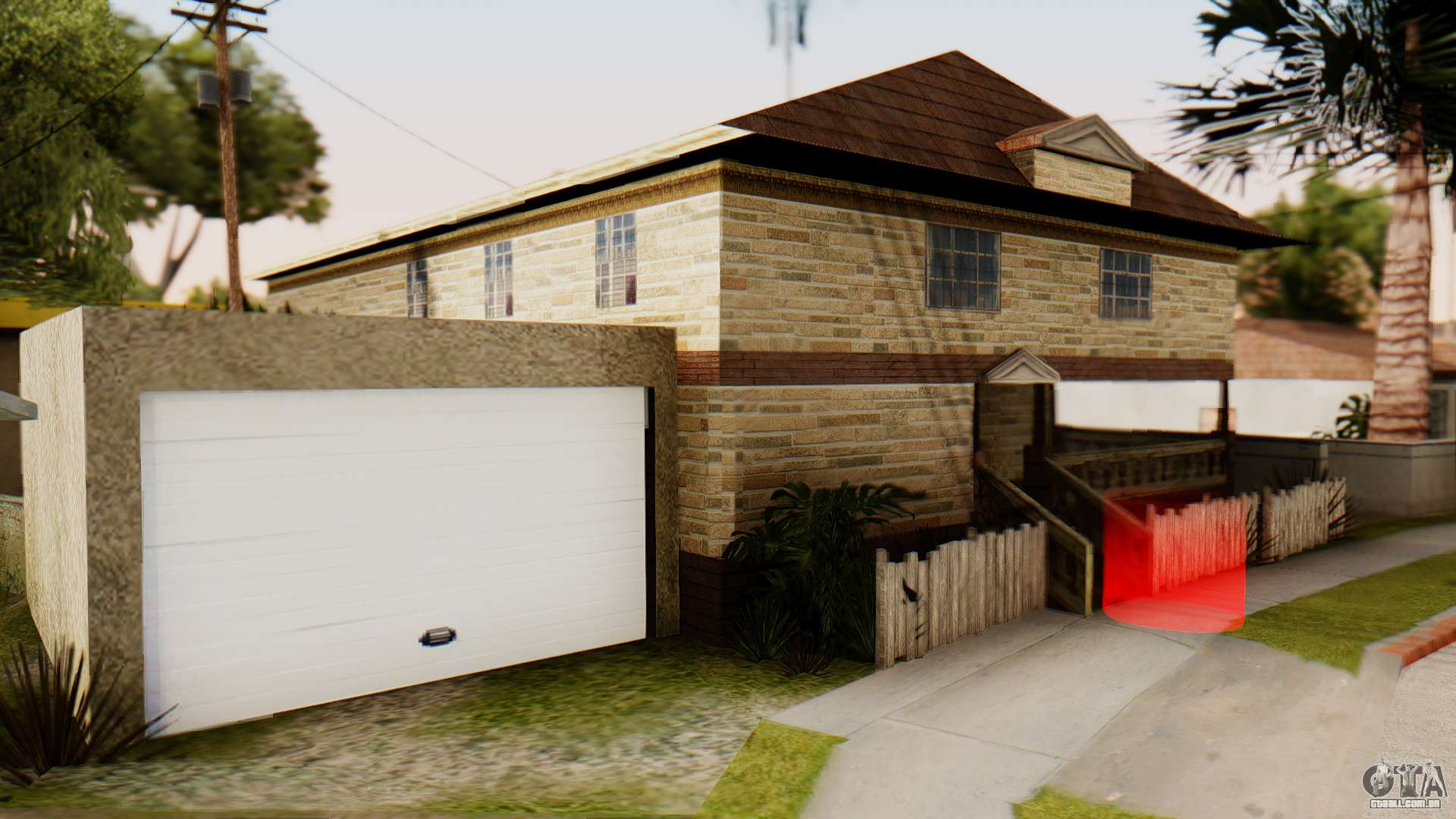 New House For CJ Para GTA San Andreas Segunda Tela