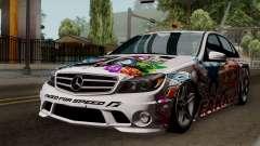Mercedes-Benz C63 AMG Momoka and Nonoka Itasha para GTA San Andreas