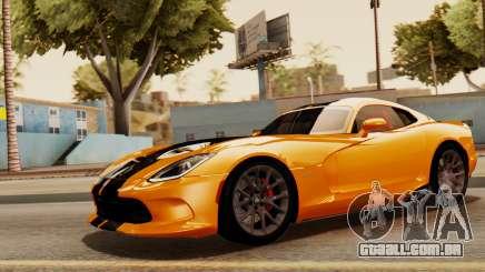 Dodge Viper SRT GTS 2013 IVF (HQ PJ) No Dirt para GTA San Andreas