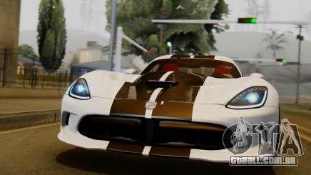Dodge Viper SRT GTS 2013 IVF (HQ PJ) LQ Dirt para GTA San Andreas