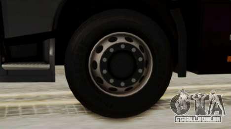 Volvo FH Euro 6 10x4 Exclusive High Cab para GTA San Andreas traseira esquerda vista