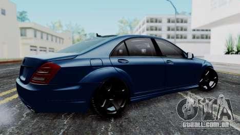Mercedes-Benz W221 para GTA San Andreas esquerda vista