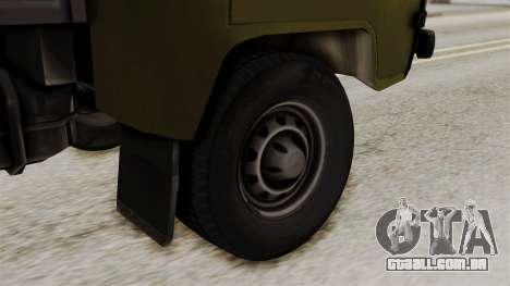 UAZ 3303 girino para GTA San Andreas traseira esquerda vista
