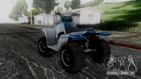Updated Quad para GTA San Andreas traseira esquerda vista