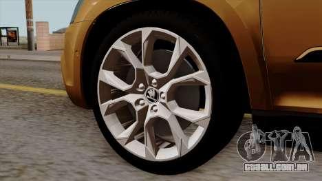 Skoda Yeti 2014 para GTA San Andreas traseira esquerda vista
