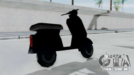Scooter from Bully para GTA San Andreas traseira esquerda vista