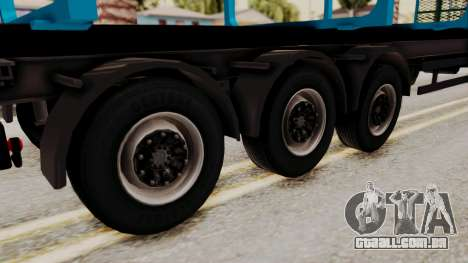 Wood Transport Trailer from ETS 2 para GTA San Andreas traseira esquerda vista