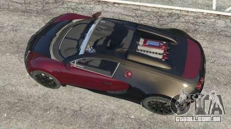 GTA 5 Bugatti Veyron Grand Sport v4.1 voltar vista