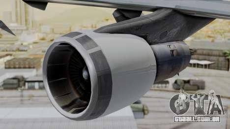Boeing 747 Southern Air para GTA San Andreas vista direita