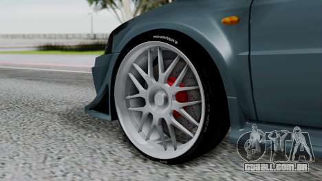 Mitsubishi Lancer Evolution Turbo para GTA San Andreas traseira esquerda vista