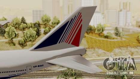 Boeing 747 TransAero para GTA San Andreas traseira esquerda vista