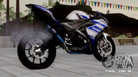 Yamaha YZF R-25 GP Edition 2014 para GTA San Andreas esquerda vista