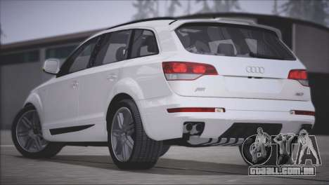 Audi Q7 2008 para GTA San Andreas vista traseira
