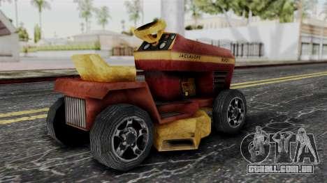 Mower from Bully para GTA San Andreas esquerda vista