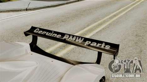 BMW V12 LMR 1999 Stock para GTA San Andreas vista traseira