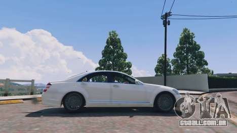 GTA 5 Mercedes-Benz S-Class W221 v0.5.3 vista lateral esquerda