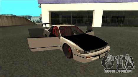 Nissan Silvia S13 Drift para vista lateral GTA San Andreas