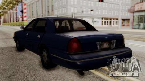 Ford Crown Victoria LP v2 Civil para GTA San Andreas esquerda vista
