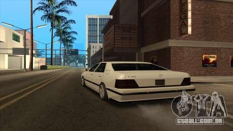 Mercedes Benz W140 S600 para GTA San Andreas traseira esquerda vista
