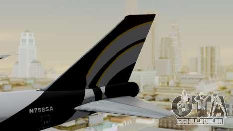 Boeing 747 Southern Air para GTA San Andreas traseira esquerda vista