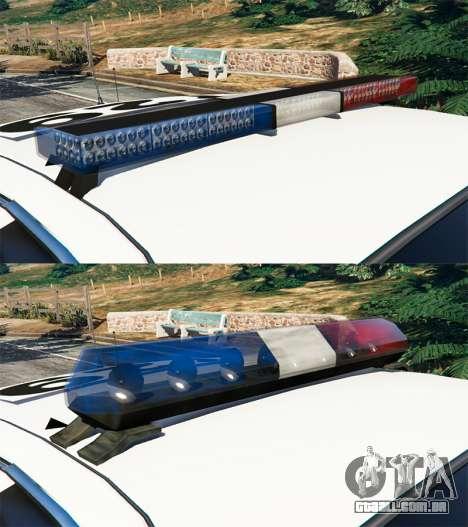GTA 5 Ford Crown Victoria 1999 Police v0.9 frente vista lateral direita