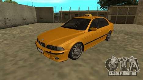 1999 BMW 530d E39 Taxi para GTA San Andreas traseira esquerda vista