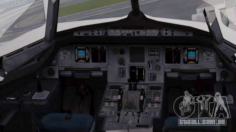 Airbus A320-200 Iraqi Airways para GTA San Andreas vista interior