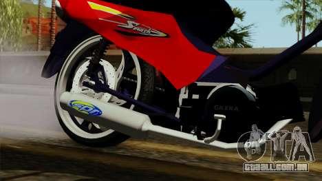 Gilera Smash para GTA San Andreas vista direita