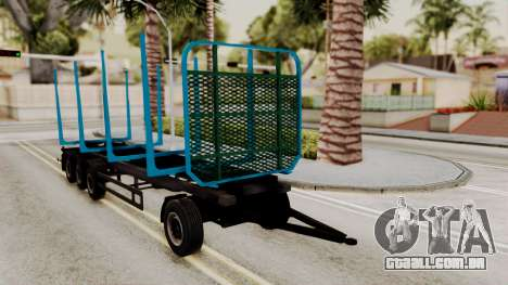 Wood Transport Trailer from ETS 2 para GTA San Andreas vista direita
