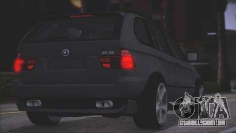 BMW X5 E53 para GTA San Andreas vista interior