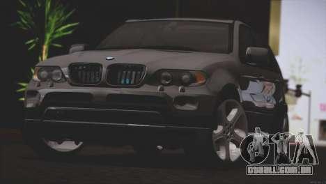 BMW X5 E53 para GTA San Andreas traseira esquerda vista
