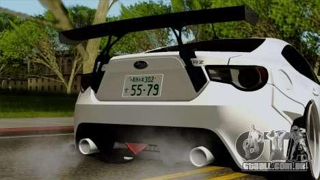 Subaru BRZ 2010 Rocket Bunny v1 para GTA San Andreas vista interior