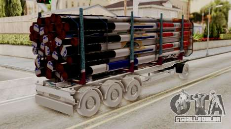 Timber Trailer from ETS 2 para GTA San Andreas esquerda vista