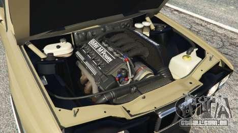 GTA 5 BMW M3 (E30) 1991 Drift Edition v1.0 traseira direita vista lateral