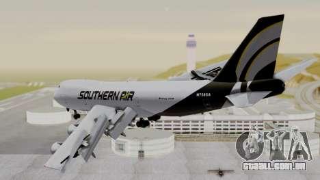 Boeing 747 Southern Air para GTA San Andreas esquerda vista