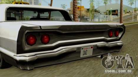 Taxi-Savanna para GTA San Andreas traseira esquerda vista