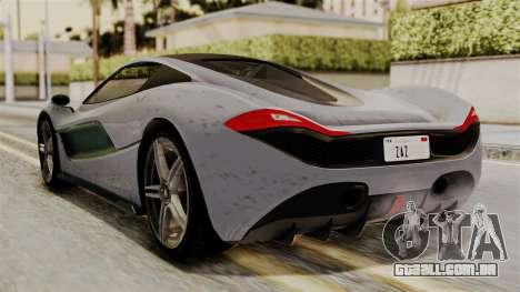 GTA 5 Progen T20 SA Style para GTA San Andreas esquerda vista