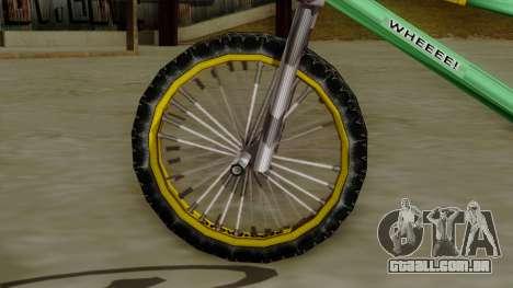 BMX Race from Bully para GTA San Andreas traseira esquerda vista