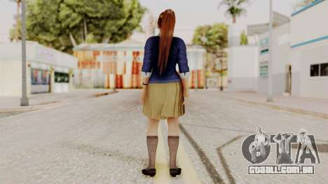DOA 5 Kasumi Blue Sweater para GTA San Andreas terceira tela