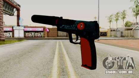 USP-S Caiman para GTA San Andreas segunda tela