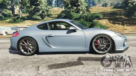 GTA 5 Porsche Cayman 2016 vista lateral esquerda