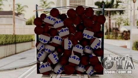Timber Trailer from ETS 2 para GTA San Andreas traseira esquerda vista