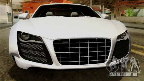 Audi R8 v1.0 Edition Liberty Walk para GTA San Andreas vista superior