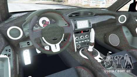 GTA 5 Toyota GT-86 Rocket Bunny v1.1 traseira direita vista lateral