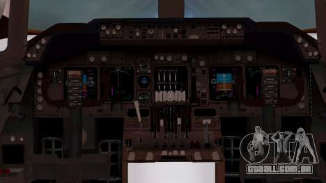 Boeing 747-100 British Overseas Airways para GTA San Andreas vista interior