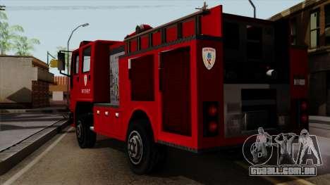 DFT-30 Tokyo Fire Department Pumper para GTA San Andreas esquerda vista