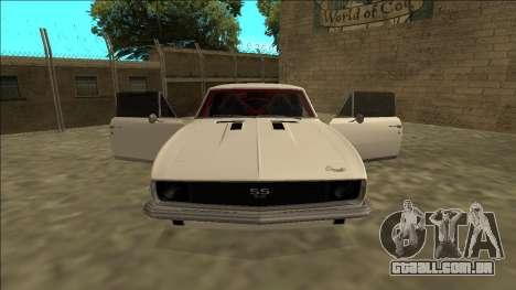 Chevrolet Camaro SS Drift para GTA San Andreas vista interior