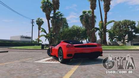 GTA 5 Ferrari Enzo v0.5 traseira vista lateral esquerda